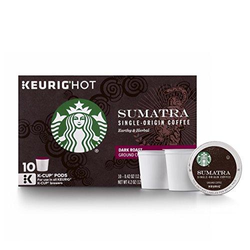 Starbucks Sumatra Dark Roast Single Cup Coffee for Keurig Brewers 1 Box of 10 10 Total K-Cup pods