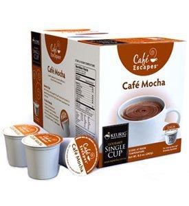 Cafe Escapes Cafe Mocha K-Cups for Keurig Brewers 16 pack