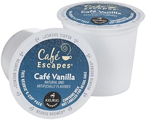 Cafe Escapes Cafe Vanilla Coffee Keurig K-Cups 16 Count