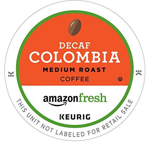 AmazonFresh 80 Ct K-Cups Decaf Colombia Medium Roast Keurig K-Cup Brewer Compatible