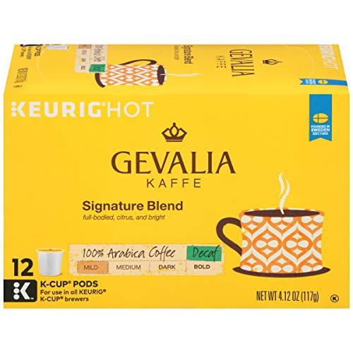 Gevalia Mild Signature Blend Keurig Decaf K Cup Coffee Pods 72 Count 6 Boxes of 12