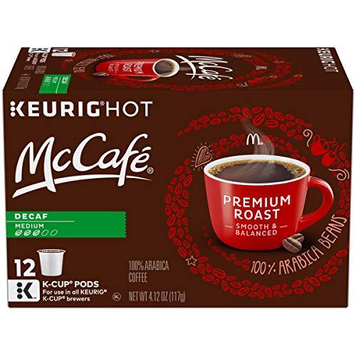 McCafe Premium Medium Roast Decaf Keurig K Cup Coffee Pods 12 Count