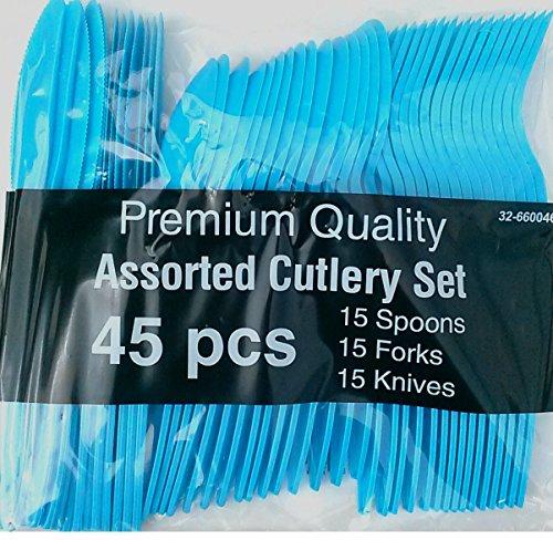 Blue Assorted Cutlery Set-45 pcs
