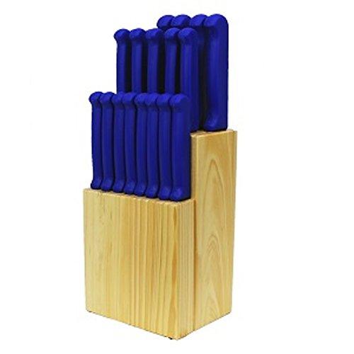 Quikut Home Basics 20 Piece Blue Cutlery Set