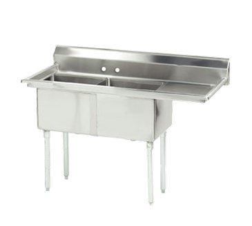 Advance Tabco FE-2-1812-18R-X Lite Series Fabricated NSF Sink