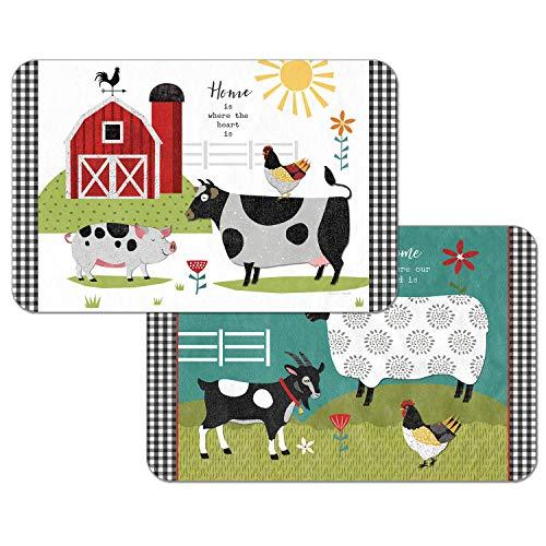 Counterart Farm Charm Reversible Rectangular Placemat Set of 4