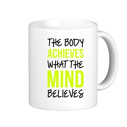 SthAmazing Body Mind Glass Coffee Travel Mug Coffee Mug Gifts