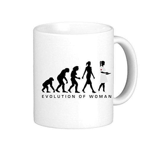 SthAmazing Evolution Krankenschwester 122012 B Glass Coffee Travel Mug Designer Mugs