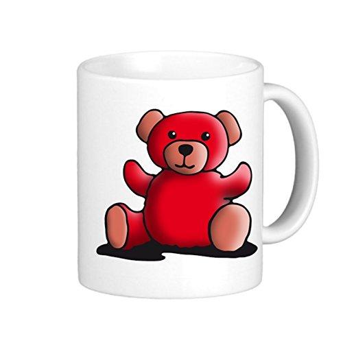 SthAmazing Teddy 052014 Red Holiday Coffee Mugs Glass Coffee Travel Mug