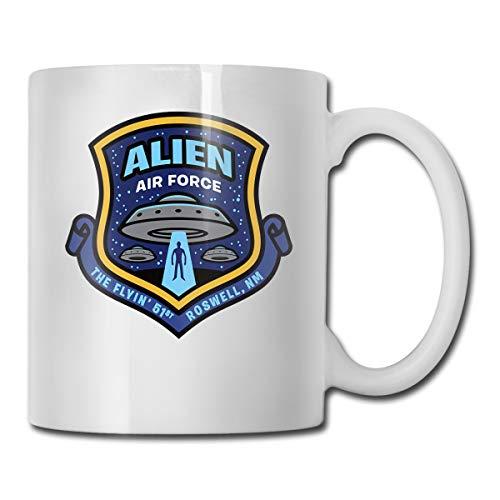 Alien Air Force Coffee Mug Gift For Kids Women Men Boys Girls White Ceramic Coffee Tea Mug Cup 11oz