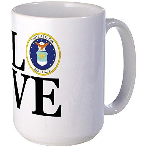 CafePress LOVE Air Force Coffee Mug Large 15 oz White Coffee Cup