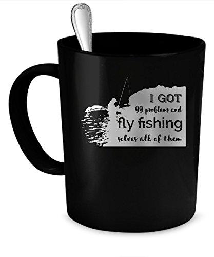 Fly Fishing Coffee Mug Fly Fishing gift 11 oz black