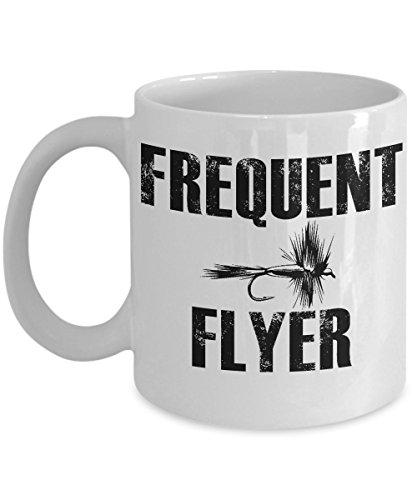 Fly Fishing Frequent Flyer Coffee Mug Ceramic 11oz