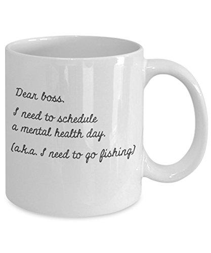Fly Fishing Mug - Dear Boss I Need The Day Off To Go Fishing Coffee Mug