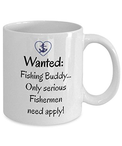 Fly Fishing Mug - Fly Fishing Coffee Mug - Wanted Fishing Buddy Coffee Mug