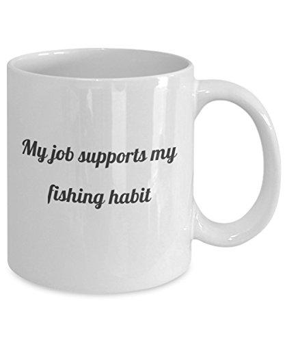 Fly Fishing Mug - My Job Supports My Fishing Habit Coffee Mug