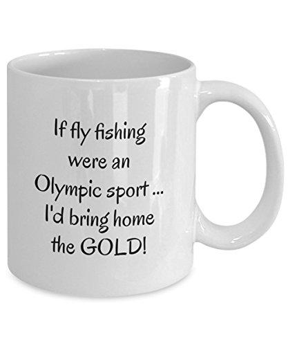Fly fishing mug - fly fishing coffee mug - fly fish mug - If fly fishing were an Olympic sport  White Coffee Mug