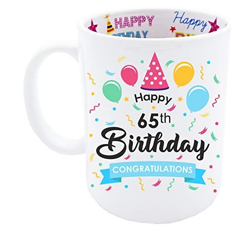 65th Birthday Gift for Men Happy Birthday Coffee Mug