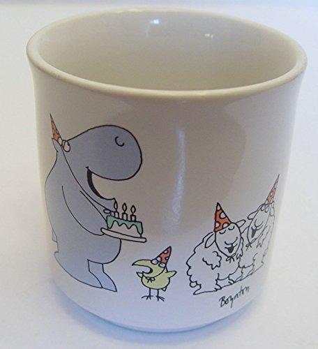 Vintage Boynton Hippo Birdie Two Ewes Happy Birthday Coffee Mug Cup Japan