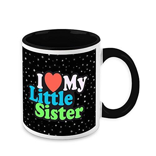 Mug For Sister - HomeSoGood I Love My Little Sister White Ceramic Coffee Mug - 325 ml