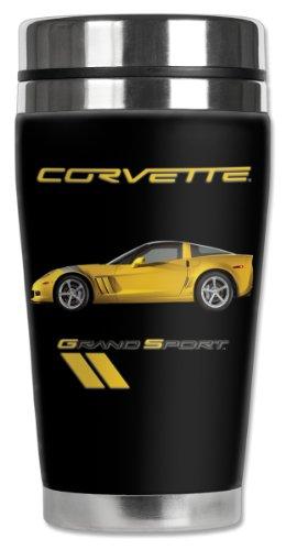 Mugzie Corvette Grand Sport Travel Mug with Insulated Wetsuit Cover 16 oz Black