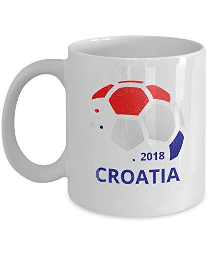 Croatia Soccer Team Coffee Mug - 11oz White Ceramic Tea Cup World Football Cup Country Pride Novelty Birthday Holiday Christmas Gift Set of 1