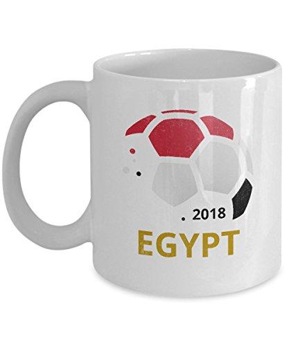 Egypt Soccer Team Coffee Mug - 11oz White Ceramic Tea Cup World Football Cup Country Pride Novelty Birthday Holiday Christmas Gift Set of 1