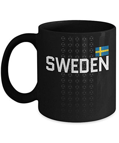 Sweden Soccer Team Coffee Mug - 11oz Black Ceramic Tea Cup World Football Cup Country Pride Novelty Birthday Holiday Christmas Gift Set of 1