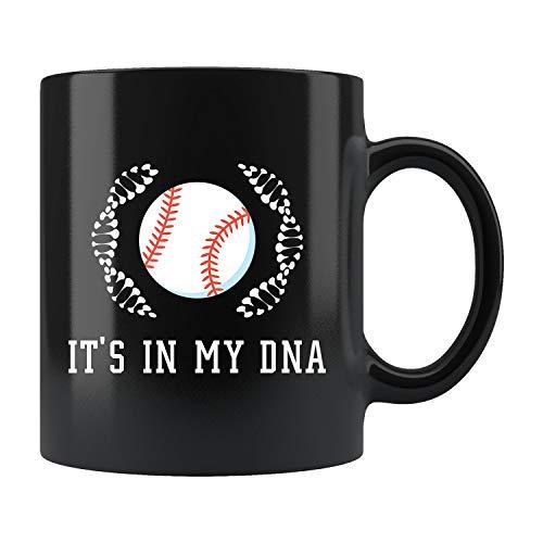 Baseball Coffee Mug Baseball Gift Gift for Baseball Fan Baseball Coach Gift Baseball Coach Mug Baseball Season Gift Baseball DNA
