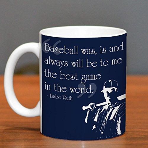 Best Game In The World Quote Ceramic Mug  Baseball Coffee Mug by ChalkTalkSPORTS  Navy