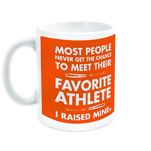 I Raised My Favorite Athlete Ceramic Mug  Baseball Coffee Mug by ChalkTalkSPORTS  Orange
