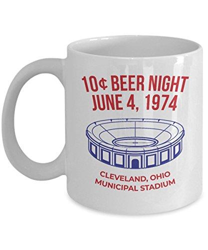 Retro 10 Cent Beer Night Cleveland Baseball Coffee Mug