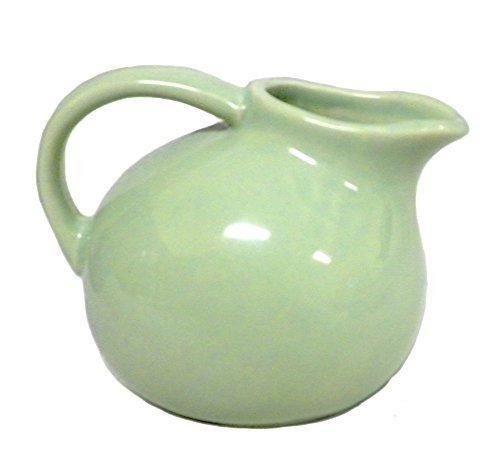 180D Small Round Stoneware Pitcher Creamer Retro Colors Green 45T