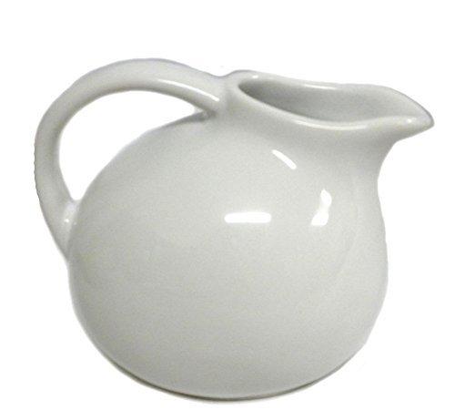180D Small Round Stoneware Pitcher Creamer Retro Colors White 45T