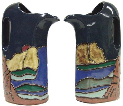 Mara Ceramic Stoneware 32 Oz Mountain and Waterfall Pitcher