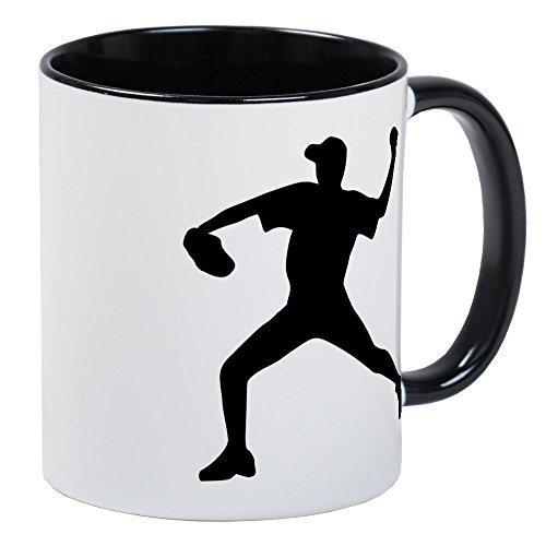 CafePress Baseball - Pitcher Mug Unique Coffee Mug Coffee Cup