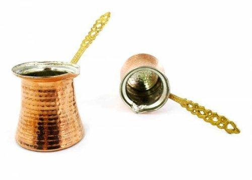 Hand Hammered Copper Turkish Greek Arabic Coffee Pot Ibrik Kettle Jazzva Cezve Briki XL - 340cc - 115 oz - 5 demitasse cups by TurkishCopper