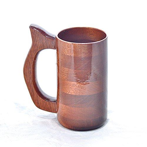 12 Ounce Mahogany Wood Beer Stein Renaissance Faire Mug