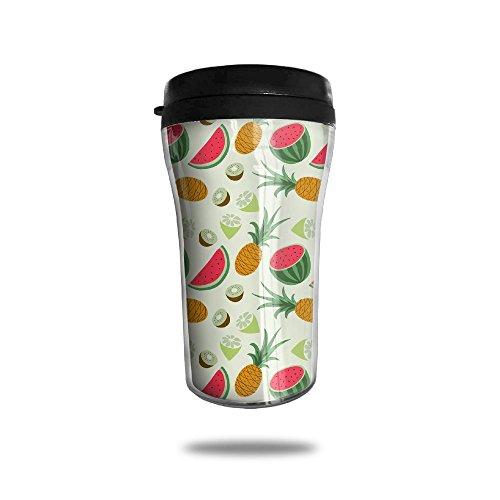 Custom Coffee Mug Pineapple Watermelon Travel Coffee Mug Coffee Cup Good For TravelOfficeSchoolHomeMilkTea250 ML
