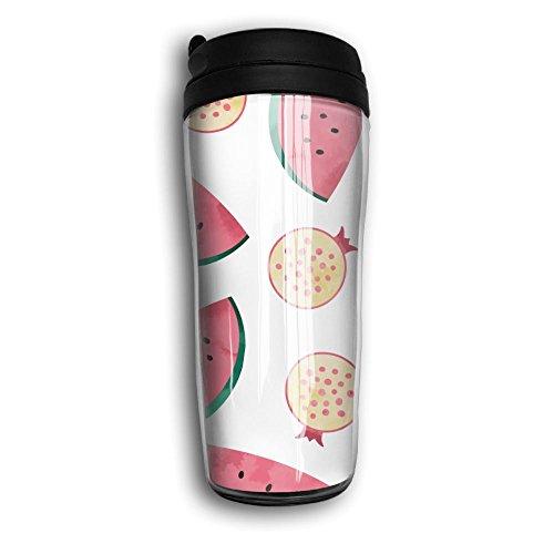 Lightweight Curve Coffee Mug Watermelon Travel Coffee Mug With Lids Coffee Cup Good For TravelOfficeSchoolHomeMilkTea350 ML