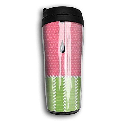 Portable Curve Coffee Mug Watermelon Travel Coffee Mug With Lids Coffee Cup Good For TravelOfficeSchoolHomeMilkTea350 ML