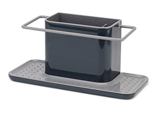 Joseph Joseph 85070 Sink Caddy Kitchen Sink Organizer Sponge Holder Dishwasher-Safe Large Gray