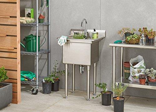 TRINITY TSL-0301 Stainless Steel Utility Sink