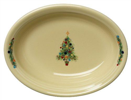 Fiesta Oval Vegetable Bowl Christmas Tree