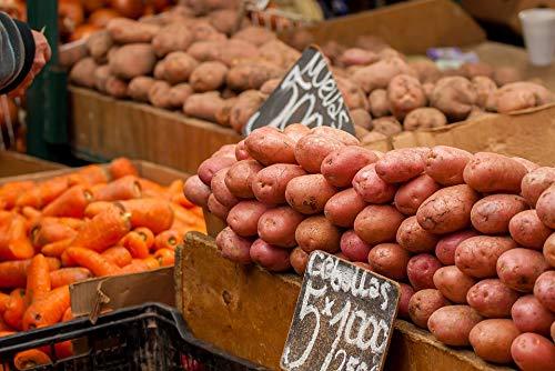 Home Comforts Potatos Fruit Vegetables Market Carrots Vegetable Vivid Imagery Laminated Poster Print 24 x 36