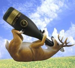 Wine Bottle Holder - Fun Bar Accessory - Deer Drinking Wine Bottle Holder