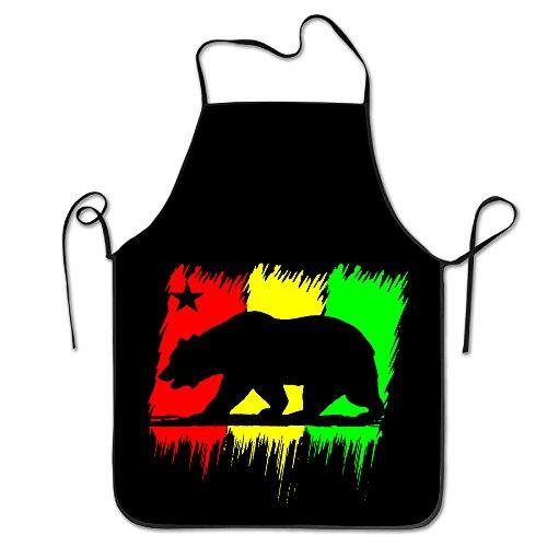Cali Bear Flag California Colorful Star Funny Cooking Aprons