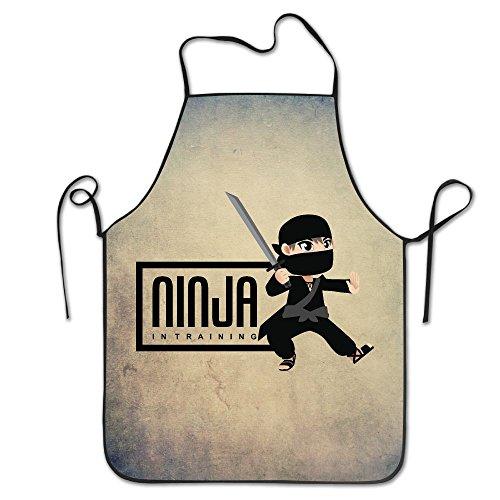 WENTiandi Ninja In Training Warrior SamuraiCooking Aprons Bib ApronsAprons For Girls Boys Aprons Bulk Aprons For Women Men