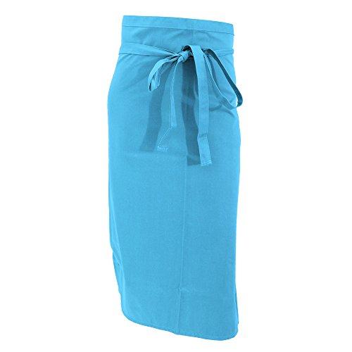 Jassz Bistro Unisex Medium Length Bistro Apron  Barwear One Size Caribbean Blue