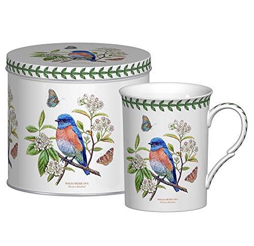 Portmeirion Botanic Garden Birds Mug in a Tin Gift Box Western Bluebird